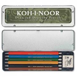 Koh-i-Noor - Koh-i-Noor Versatil Kalem Seti 6lı 5217 HB 2mm