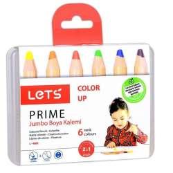 Lets - Lets Color Up Prime Jumbo Boya Kalemi 6lı L-4600