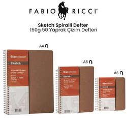 Fabio Ricci - Fabio Ricci Sketch Spiralli Defter 150g 50 Yaprak Çizim Defteri