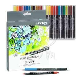 Lyra - Lyra Aqua Brush Duo Fırça Uçlu Kalem 24lü Set