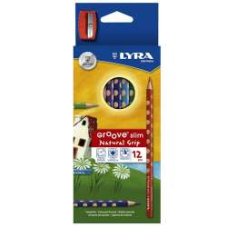 Lyra - Lyra Groove Natural Grip Slim 12li Kuru Boya Seti 2821120