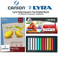 Lyra - Lyra Polycrayons Toz Pastel Boya 12 Renk Canson Defterli