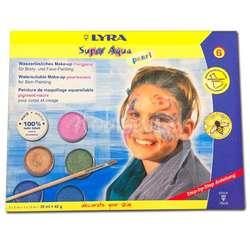 Lyra - Lyra Super Aqua Pearl Fırçalı Tablet Yüz Boyası 6 Renk