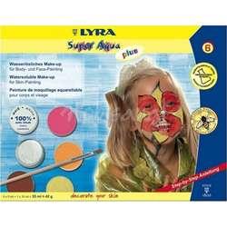 Lyra - Lyra Super Aqua Plus Fırçalı Tablet Yüz Boyası 6 Renk