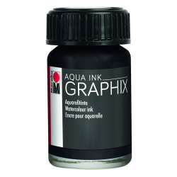 Marabu - Marabu Graphix Aqua Ink 15ml 073 Black Noir