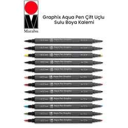 Marabu - Marabu Graphix Aqua Pen Çift Uçlu Sulu Boya Kalemi