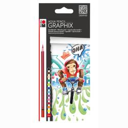 Marabu - Marabu Graphix Aqua Pencil Sulu Boya Kalem Seti 12 Renk
