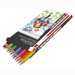 Marabu - Marabu Graphix Aqua Pencil Sulu Boya Kalem Seti 12 Renk (1)