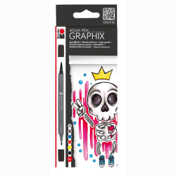 Marabu - Marabu Graphix Aqua Pen 6lı Set King Of Bubblegum