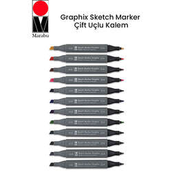 Marabu - Marabu Graphix Sketch Marker Çift Uçlu Kalem
