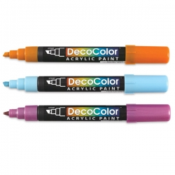 Marvy - Marvy DecoColor Akrilik Paint Marker Kesik Uç