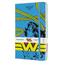 Moleskine - Moleskine Wonder Woman Büyük Boy Çizgili Defter Mavi