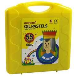 Monami - Monami Yağlı Pastel Boya 55 Renk Sarı Çantalı