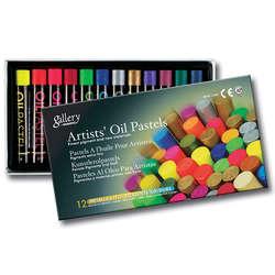 Mungyo - Mungyo Gallery Artists Oil Pastel 12li Set Metalik + Fosforlu Renkler