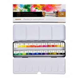 Mungyo - Mungyo Gallery Artists Watercolor Set 24 Renk Yarım Tablet