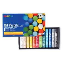 Mungyo - Mungyo Jumbo Oil Pastel 12 Renk