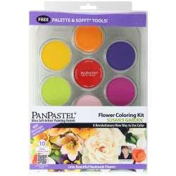 Pan Pastel - PanPastel Boya Seti 10lu Flower Coloring Kit 1