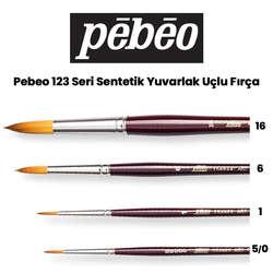 Pebeo - Pebeo 123 Seri Sentetik Yuvarlak Uçlu Fırça