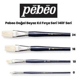 Pebeo - Pebeo 140F Doğal Beyaz Kıl Yağlı Boya-Akrilik Boya Fırçası