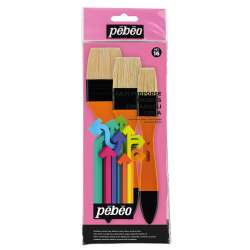 Pebeo - Pebeo Çok Amaçlı Hobi Fırça Seti 16