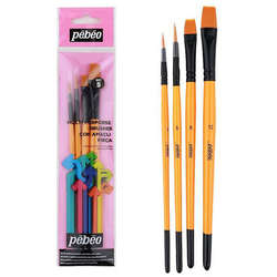 Pebeo - Pebeo Çok Amaçlı Hobi Fırça Seti 5