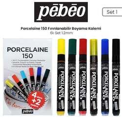 Pebeo - Pebeo Porcelaine 150 Fırınlanabilir Boyama Kalemi 6lı 1.2mm Set 1