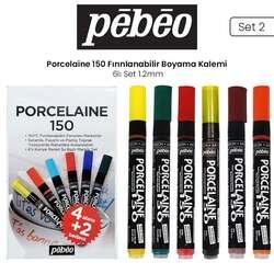 Pebeo - Pebeo Porcelaine 150 Fırınlanabilir Boyama Kalemi 6lı 1.2mm Set 2