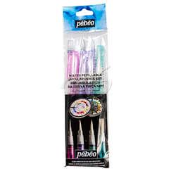 Pebeo - Pebeo Water Brush Pen Doldurulabilir Sulu Boya Fırça Seti 4lü