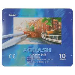 Pentel - Pentel Aquash Sulandırılabilir Yağlı Pastel Boya Seti