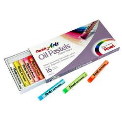 Pentel - Pentel Yağlı Oil Pastel 16 Renk