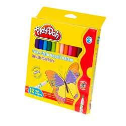 Play-Doh - Play-Doh 12 Renk Fırça Uçlu Keçeli Kalem KE009
