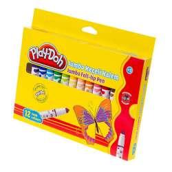 Play-Doh - Play-Doh 12 Renk Jumbo Keçeli Kalem 8mm KE010