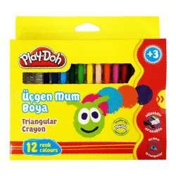 Play-Doh - Play-Doh 12 Renk Üçgen Mum Boya CR008