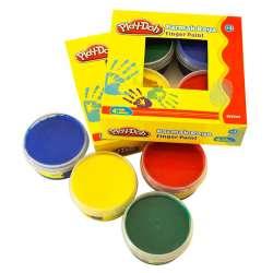 Play-Doh - Play-Doh 4 Renk Parmak Boya 50ml PR017