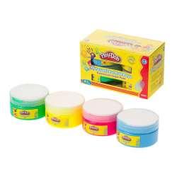 Play-Doh - Play-Doh Jumbo Fosforlu Parmak Boya 4 Renk 70ml PR016