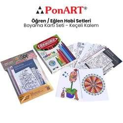 Ponart - Ponart Boyama Kartı Seti - Keçeli Kalem PHS-16