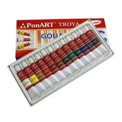 Ponart - Ponart Guaj Boya 12x12ml Set