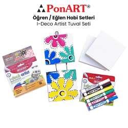 Ponart - Ponart I-Deco Artist Tuval Seti PHS-15