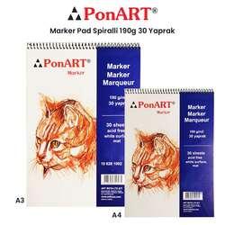Ponart - Ponart Marker Pad Spiralli 190g 30 Yaprak