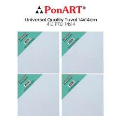 Ponart - Ponart Universal Quality Tuval 14x14cm 4lü PTU-14x14