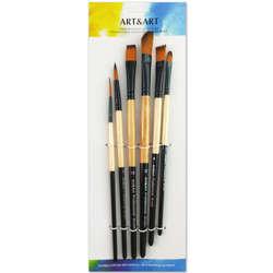 Anka Art - Profesyonel Karışık 6lı Fırça Seti