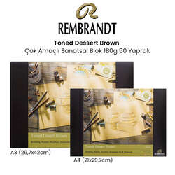 Rembrandt - Rembrandt Toned Dessert Brown Çok Amaçlı Sanatsal Blok 180g 50 Yaprak