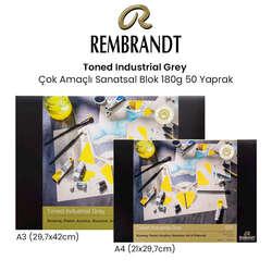 Rembrandt - Rembrandt Toned Industrial Grey Çok Amaçlı Sanatsal Blok 180g 50 Yaprak