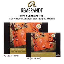 Rembrandt - Rembrandt Toned Sanguine Red Çok Amaçlı Sanatsal Blok 180g 50 Yaprak