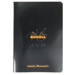 Rhodia - Rhodia Basic Noktalı Defter Siyah Kapak 80g 48 Yaprak A4