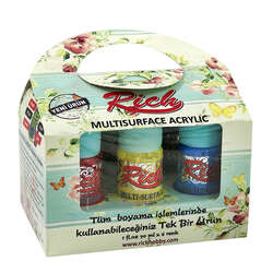 Rich - Rich Multi Surface Akrilik Boya Seti 10 Renk 30ml