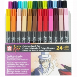 Sakura - Sakura Koi Coloring Brush Pen Fırça Uçlu Kalem Seti 24lü