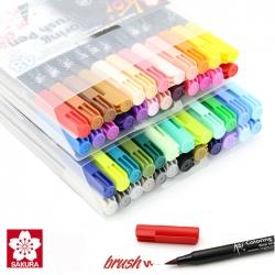 Sakura - Sakura Koi Coloring Brush Pen Fırça Uçlu Kalem Seti 48li