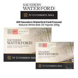 St Cuthberts - Saunders Waterford Hot Pressed Natural White Blok 20 Yaprak