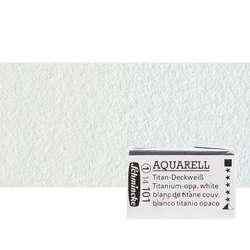 Schmincke - Schmincke Horadam Aquarell 1/1 Tablet 101 Titanium Op. White S1